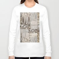 wood Long Sleeve T-shirts featuring Wood by LebensART