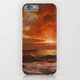 Sunrise over the Sea by Ivan Fedorovich Choultsé iPhone Case