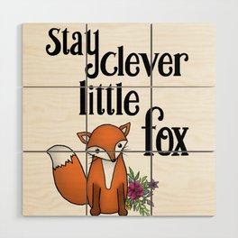 Clever Fox Wood Wall Art