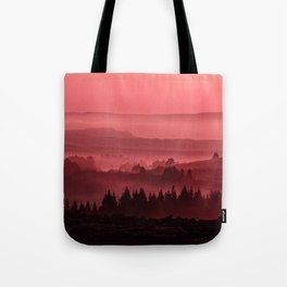 My road, my way. Red. Tote Bag