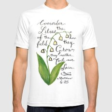 Consider the Lilies SMALL White Mens Fitted Tee