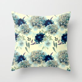 Blue Mum Throw Pillow