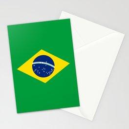Brazil Flag Graphic Design Stationery Cards