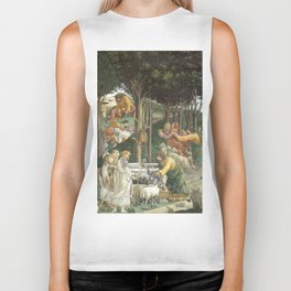 Trials of Moses Painting by Botticelli - Sistine Chapel Biker Tank