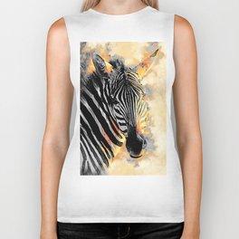 zebra #zebra #animals Biker Tank
