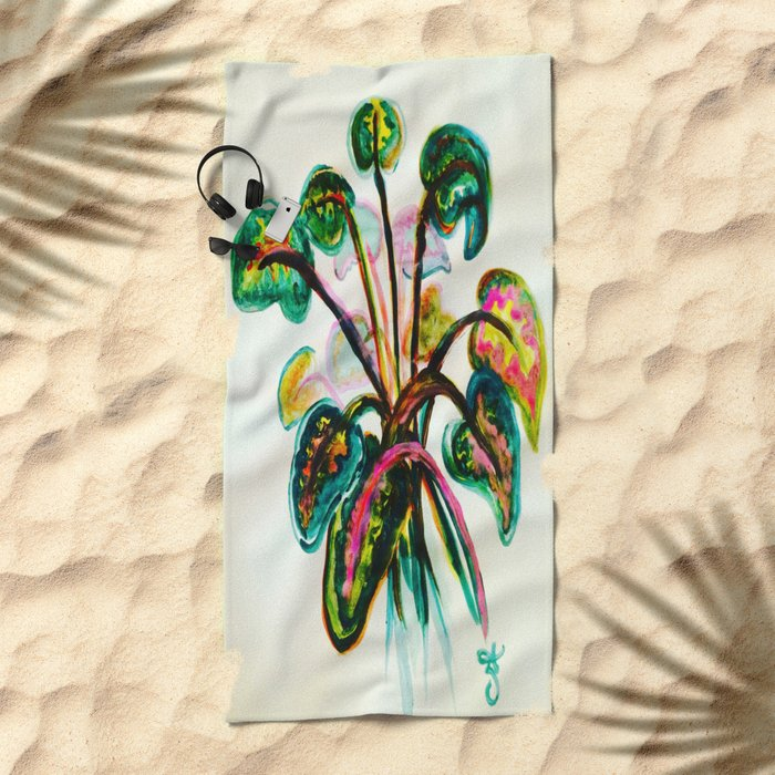 A Bouquet of Leaves Beach Towel
