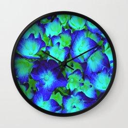 Midnight Blue Hydrangea Wall Clock