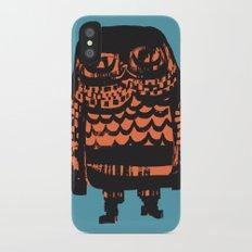 Little Seal (blue) iPhone X Slim Case