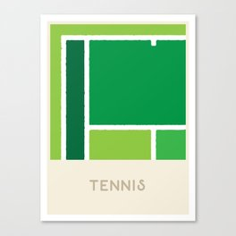 Tennis (Sports Surfaces Series, No. 23) Canvas Print