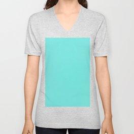 Turquoise Blue Unisex V-Neck