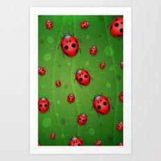Pattern coccinelle Art Print