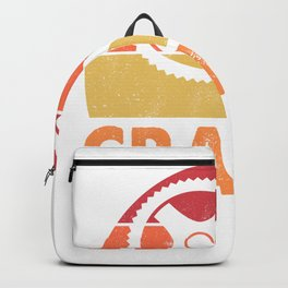 Cranky Bicyle Rider Cycling Lovers  Backpack