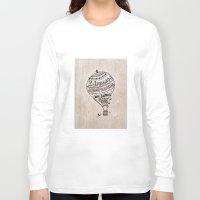 ballon Long Sleeve T-shirts featuring Hot Air Ballon by violart