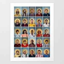 25 ICONS (sélection) Art Print