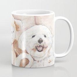 Two Bichons and A Friend Coffee Mug