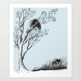 Porcupine's Helper Art Print