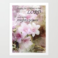 Be Strong in the Lord Art Print