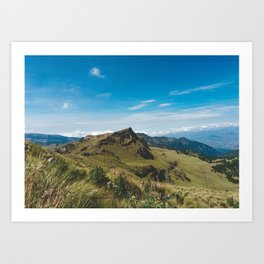 View Hiking up Iztaccihutal Volcano, Mexico City 3 Art Print