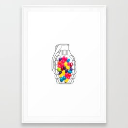 Jelly Bean Grenade Framed Art Print