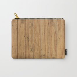 Rustic Wood Panel Pattern Carry-All Pouch