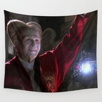 dracula Wall Tapestries featuring Bram Stoker's Dracula Large Size Painting by Gabriel T Toro