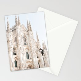 Milan Cathedral Print, Italy Wall Art, Church Architecture Stationery Cards