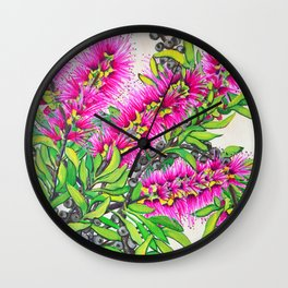 Callistemon Wall Clock