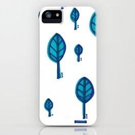 Standing Leaf Print Close Up iPhone Case