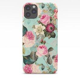 Vintage & Shabby Chic - Summer Teal Roses Flower Garden iPhone Case