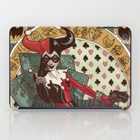 harley quinn iPad Cases featuring Harley Quinn by LaurenceBaldetti