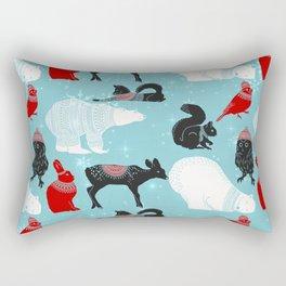 Winter Friends Pattern Rectangular Pillow