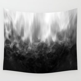 B&W Spotted Blur Wall Tapestry