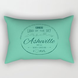Asheville, NC - AVL 16 Green Rectangular Pillow