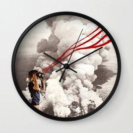 explosive views Wall Clock