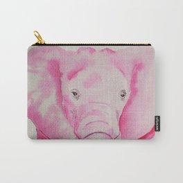 Fuchsia Elephant Carry-All Pouch