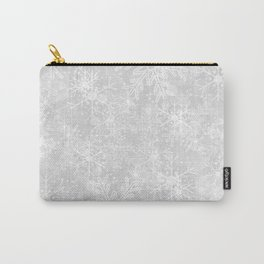 Silver Snowflakes Carry-All Pouch