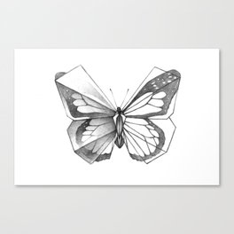 Butterfly Origami Canvas Print