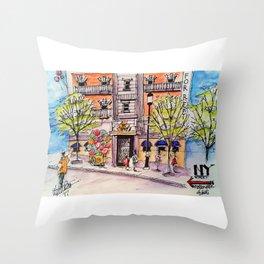 NY Street Motiongate Theme Park Dubai Throw Pillow