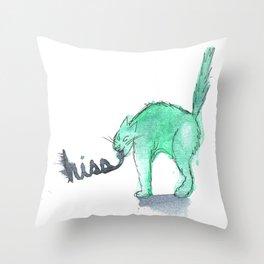 Hiss Throw Pillow