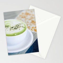 Tea Time With Matcha Stationery Cards