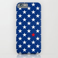 Red Star & White Stars on Blue iPhone 6s Slim Case