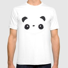Panda in love SMALL Mens Fitted Tee White