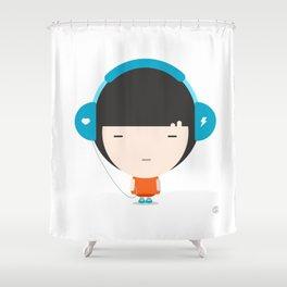 Helmet Girl: Jam Shower Curtain