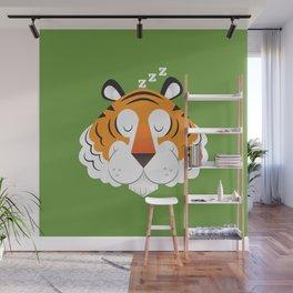Sleepy Tiger Wall Mural
