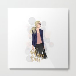 Boss Lady | Wife Mom Boss Metal Print