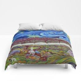 Sunny Starry Night Comforters