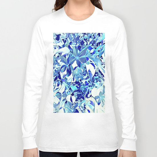 Blue sakura Long Sleeve T-shirt