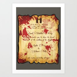 Red Wedding Art Print
