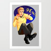 This is your captain doing cool stuff! Art Print