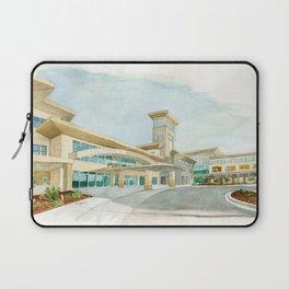 Watercolor Warwick World Headquarters Laptop Sleeve